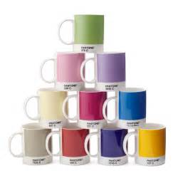colorful coffee mugs pantone mug set of 10 pantones ten primary colors color