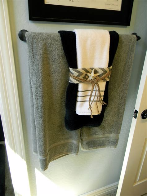 how to design bathroom towels little bit of paint thrifty thursday nautical decor