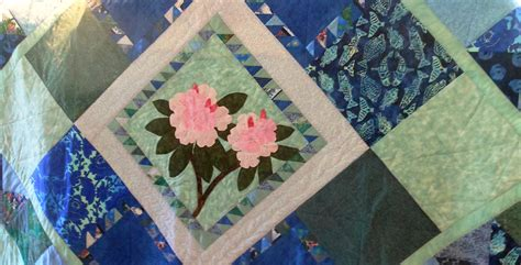 Handmade Quilt For Sale - handmade rhododendron quilt for sale sold