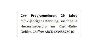 Anschreiben Bewerbung Chiffre chiffreanzeigen chiffrierte stellenangebote