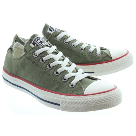 Converse Ox Canvas converse canvas allstar ox lace shoes in olive in olive