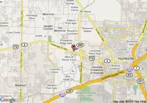 map of comfort suites huntsville huntsville