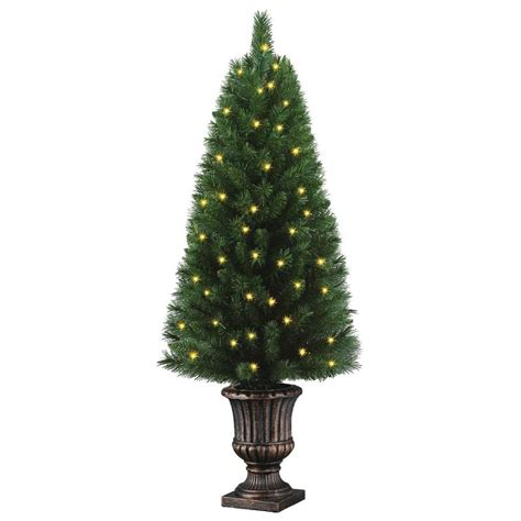 4 ft tree with lights home accents 4 ft potted artificial