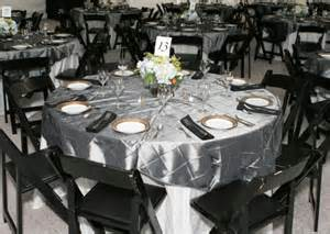 Food Network Table Linens - photo gallery photo of black and gray themed wedding reception