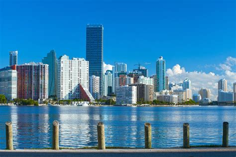 from biscayne bay to downtown miami a stunning home by miami florida brickell and downtown financial buildings