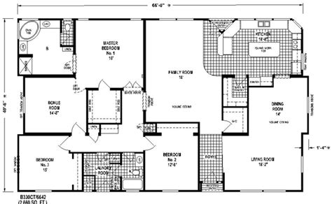 trend homes floor plans triple wide mobile home plan awesome on trend 4 bedroom