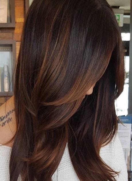 highlight colors for black hair copper highlights for hair 2018 fashion
