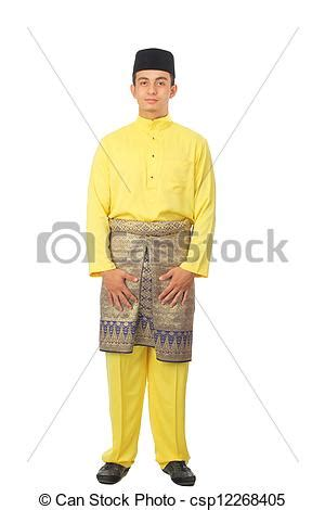 Baju Bayi Costume Gentleman stock photography of asian muslim with traditional costume in smiling csp12268405