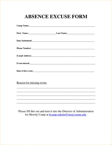 Excuse Letter Menstrual Crs 9 Work Excuse Template Loan Application Form