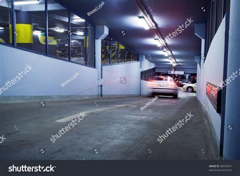Motion Garage by Traffic Jam In Parking Garage Motion Blur From Moving Car