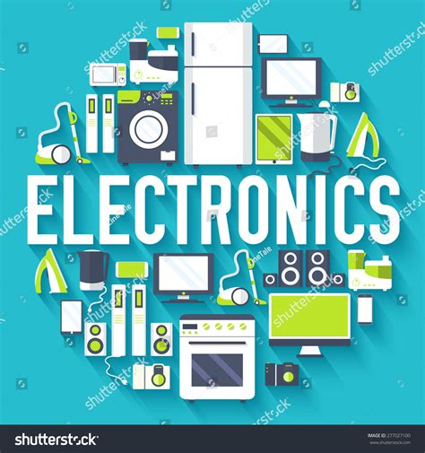 house electronics home electronics appliances circle infographics template