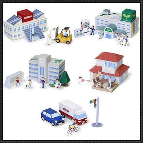 City Papercraft - mini city playset for diorama free papercrafts