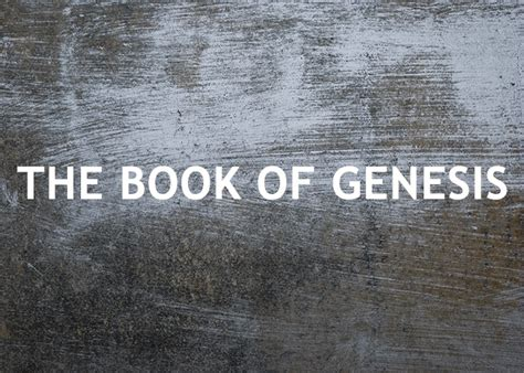 what is the book of genesis the book of genesis re source