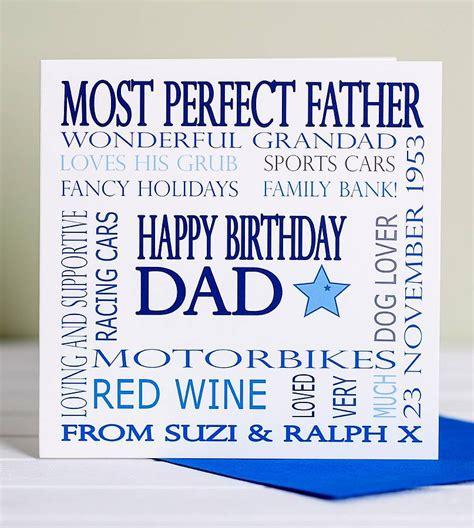 Dads Birthday Card Personalised Dad Birthday Card By Lisa Marie Designs