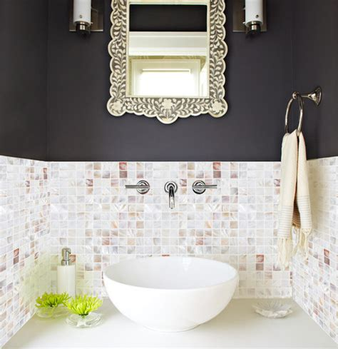 pearl mosaic bathroom tiles pearl mosaic tile bathroom contemporary with mother of