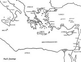 Pauls Journeys Outline by Blank Map Pauls Journeys Sketch Coloring Page Bible Paul Coloring