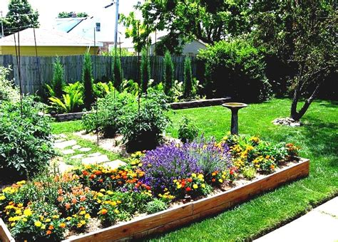 backyard simple landscaping ideas raised patio ideas