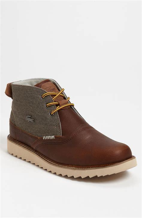 lacoste farmington 2 boot in brown for