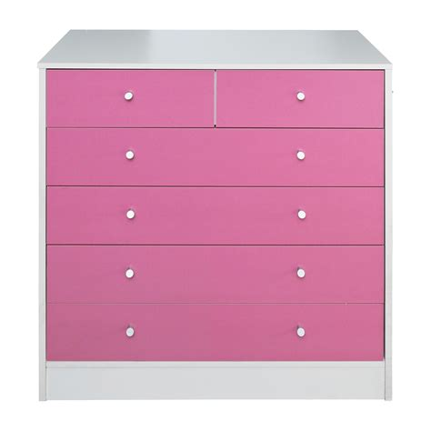 malibu 4 2 drawer chest pink on white bedroom furniture