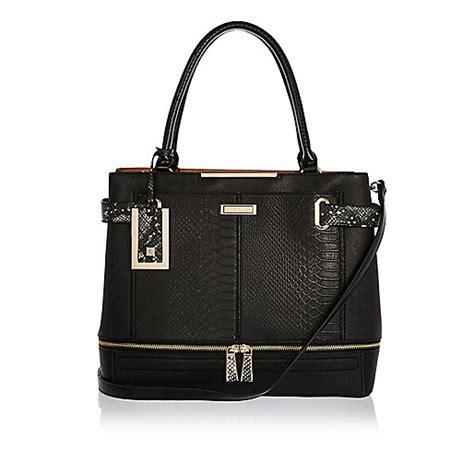 Panel Tote Bag black panel boxy tote bag bags purses sale