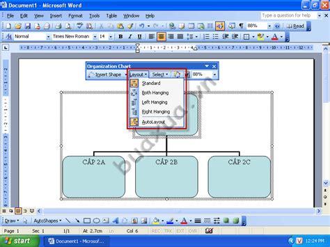 word graph layout c 225 ch tạo sơ đồ tổ chức trong ms word 2003 buaxua vn