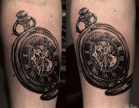 pocketwatch tattoo black n grey pocketwatch mechanical pocketwatch