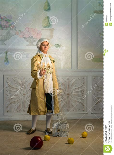 boy in vintage clothes stock photo image 63888867