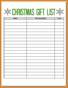Home Layout Planner 5 Christmas List Maker Itinerary Template Sample