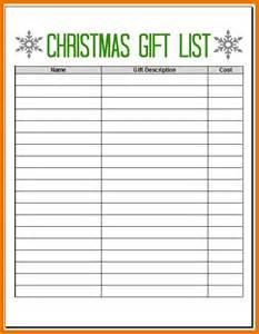 5 christmas list maker itinerary template sample