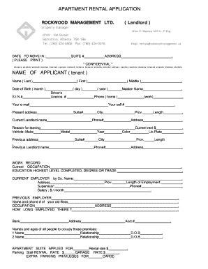 sle lease application 18015 sle rental application form bill of form