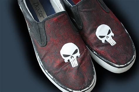 punisher slippers punisher shoes by rockpaperstuuph on deviantart