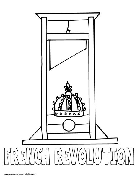 world history coloring pages printables french revolution