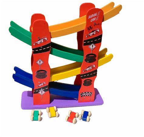 Luncuran Mobil Sliding Car Mainan Kayu Edukatif mobil luncur paten mainan kayu