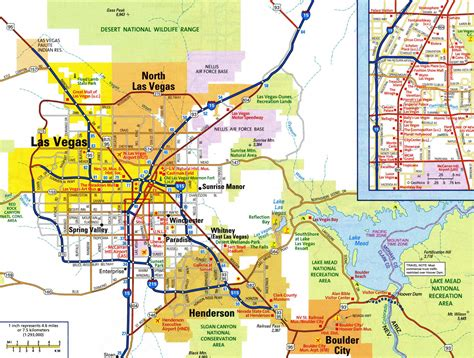 printable las vegas road map large detailed road map of las vegas city with airports