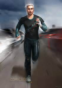 quicksilver movie costume avengers age of ultron concept art reveals more radically
