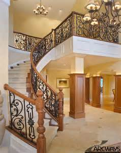 curved staircase house plans