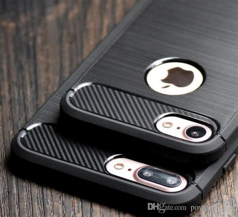 Hardccase Casing Rugged Carbon Cover Soft Iphone X Apple Ringstand carbon fiber brushed soft tpu armor for iphone x 8 10
