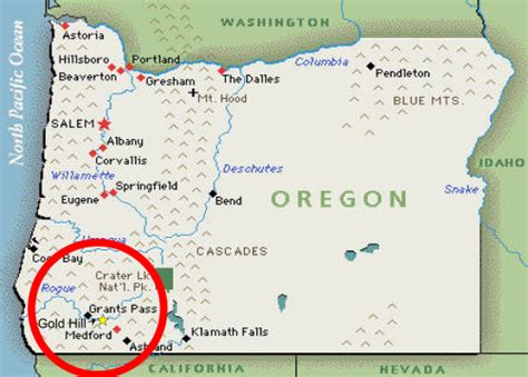 map of oregon gravity falls gold hill oregon