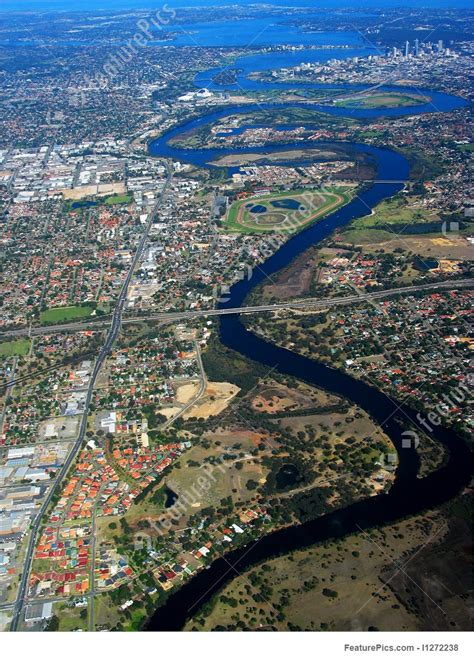 swan river aerial view picture