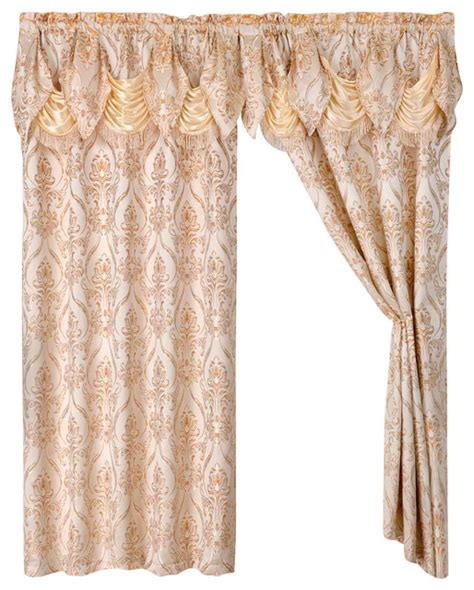 austrian curtain panels 2 penelopie curtain panels with attached austrian valance