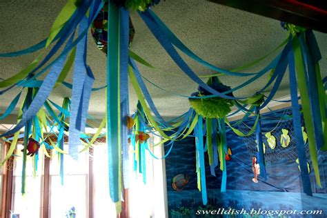 the sea theme decorations theme thursday the sea showered with