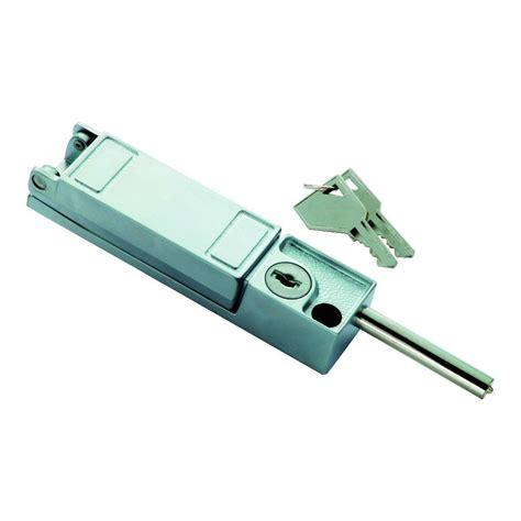 keyed patio door lock security chrome keyed patio door lock 5142 the home depot