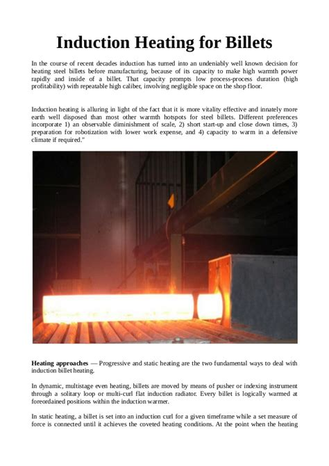 induction heating là gì induction heating for billets