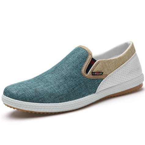 comfortable canvas shoes new men autumn canvas casual comfortable shoes slip on