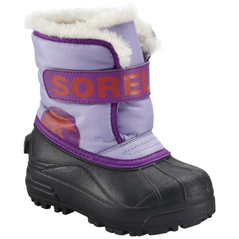 kid snow boots sorel youth toddler snow commander winter boot