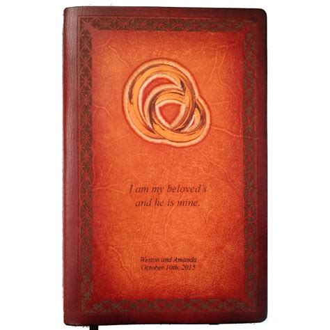 Leather Wedding Bible by Personalized Leather Wedding Or Anniversary Bible