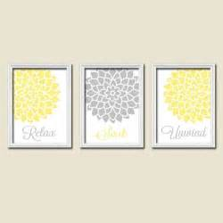Yellow And Grey Bathroom Wall Yellow Turquoise Bathroom Wall Canvas Or Prints