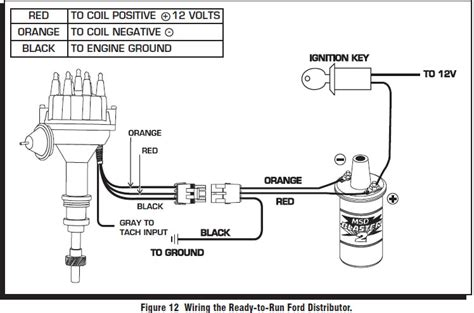 distributor to msd 6a wiring diagram msd distributor parts