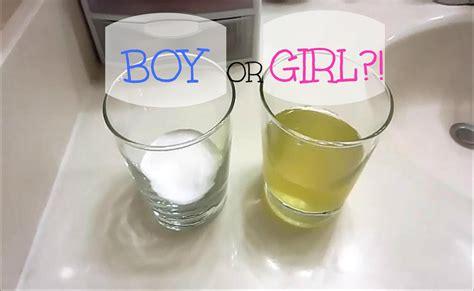 gender test baking soda gender test