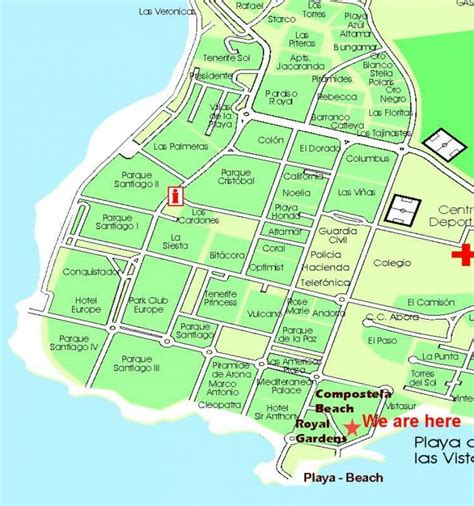 playa hotel map map of hotels playa pictures to pin on pinsdaddy